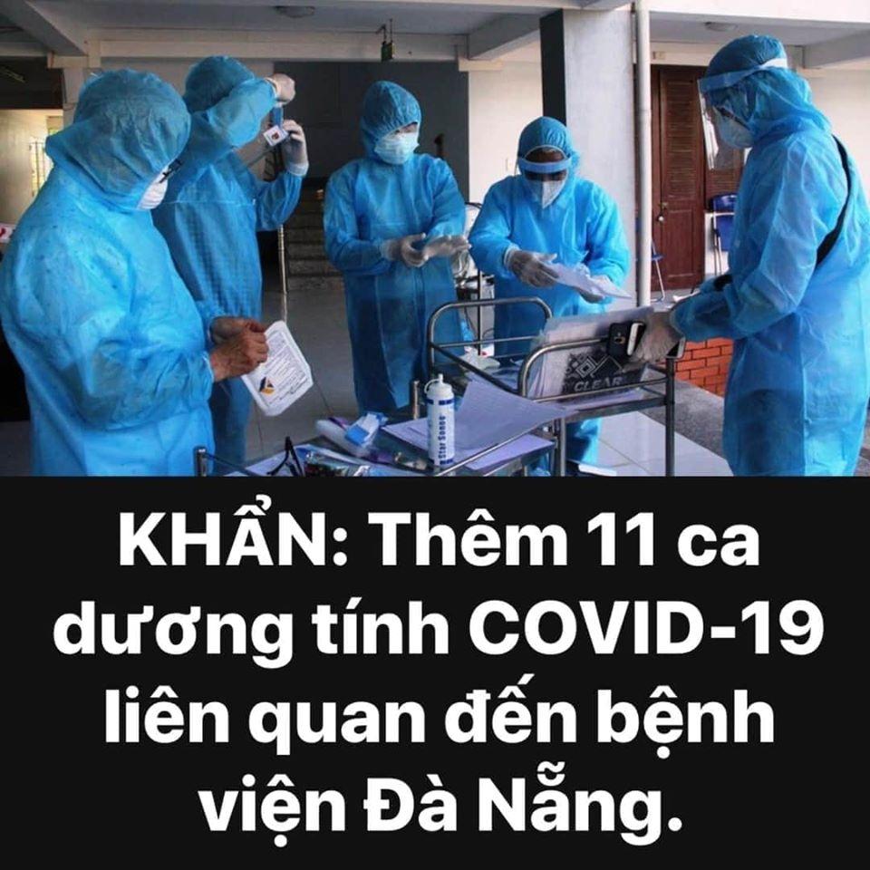 Có thêm 11 ca dương tính với Covid-19 tại bệnh viện Đà Nẵng