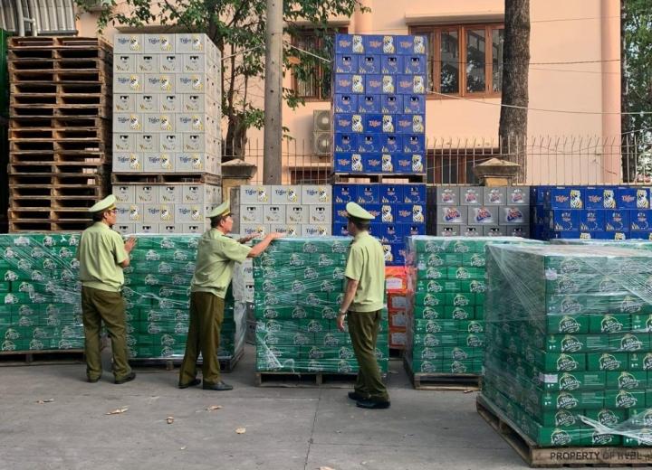 Hơn 14 nghìn lon bia nhái thương hiệu bia Sài Gòn
