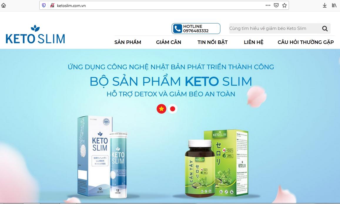 """Bộ sản phẩm Keto Slim quảng cáo đã đạt Chứng nhận an toàn của Bộ Y tế để """"lòe"""" người tiêu dùng, bán sản phẩm không phép?"""