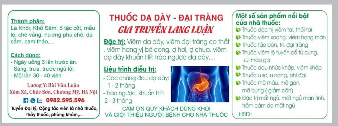 Đông y gia truyền Lang Luận: Phương thuốc bí truyền đẩy lùi bệnh dạ dày, đại tràng