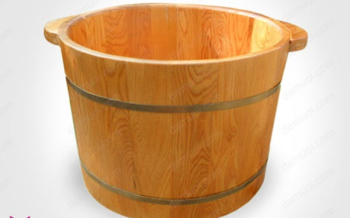 Bồn ngâm chân bằng gỗ thông cao cấp