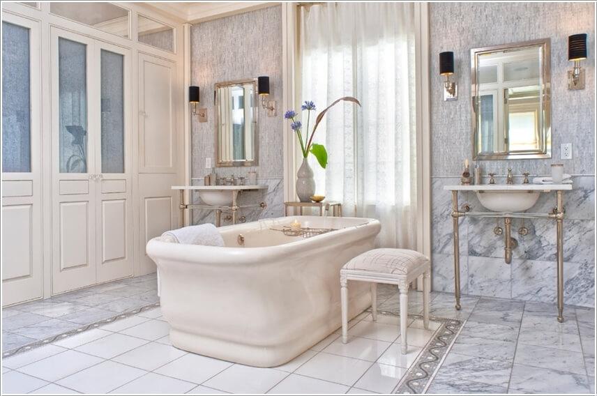 Cách đơn giản trang trí không gian phòng tắm