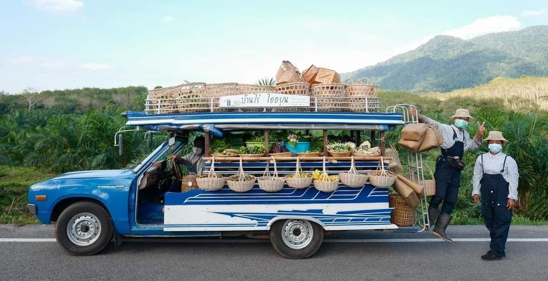 Ngắm hình ảnh xe chở nông sản xinh xắn ở Thái Lan